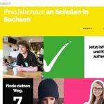 """Ansicht der Homepage des Projektes """"Praxisberater an Schulen"""""""